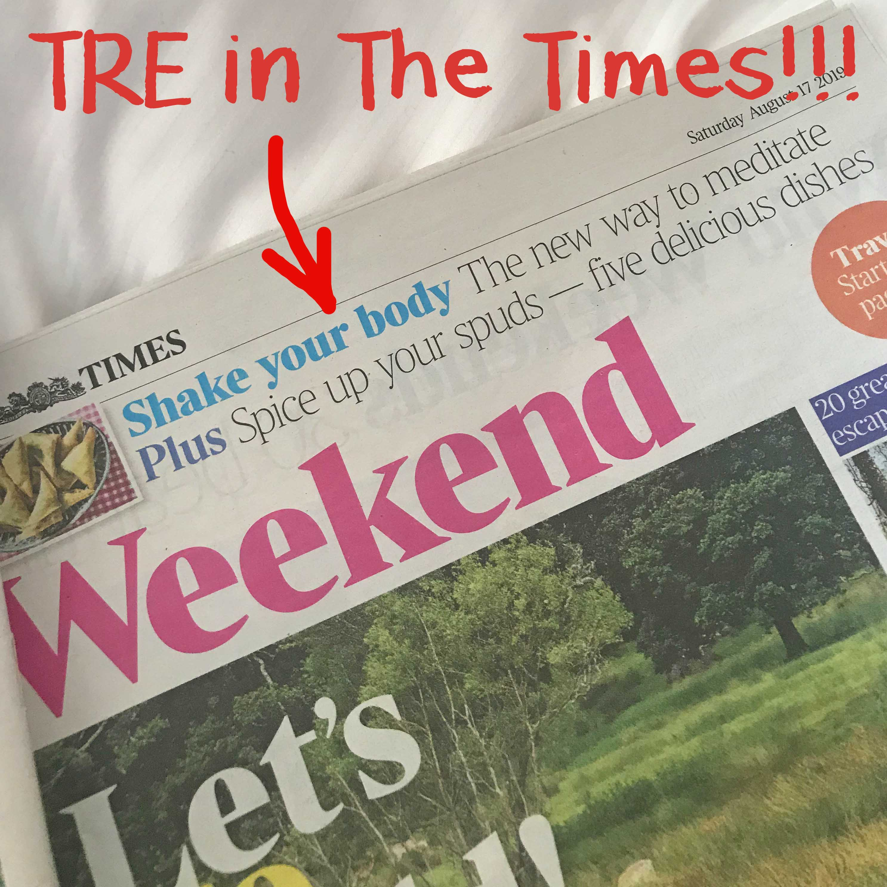 Too fidgety to meditate? Try TRE - TRE® article in The Times